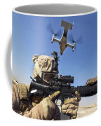 A Soldier Provides Security As An Mv-22 Coffee Mug