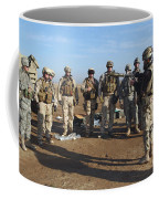 A Soldier Teaches How To Properly Coffee Mug by Stocktrek Images