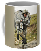 A Soldier Transports A Fellow Wounded Coffee Mug