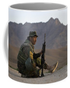 A Soldier With The Afghan National Army Coffee Mug