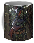 A Soldier With The Armed Forces Coffee Mug