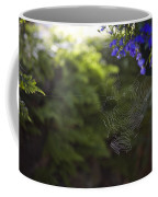 A Spider Web In A Garden Coffee Mug by Taylor S. Kennedy