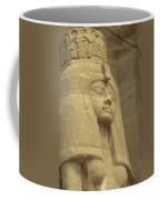 A Statue Of Nefertari At The Entrance Coffee Mug by Richard Nowitz