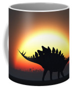 A Stegosaurus Silhouetted Coffee Mug