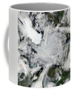 A Strong Storm Lingering In The Center Coffee Mug
