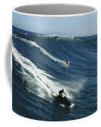 A Surfer And Jet-skier Off The North Coffee Mug