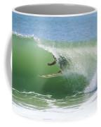 A Surfer Shoots The Curl Coffee Mug