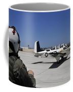A T-35c Training Aircraft Prepars Coffee Mug