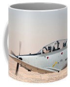 A T-6 Texan Flying Over Camp Speicher Coffee Mug