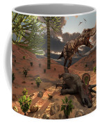 A T-rex Comes Across The Carcass Coffee Mug
