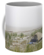 A Tent Sits In The Dunes By The Beach Coffee Mug by Taylor S. Kennedy
