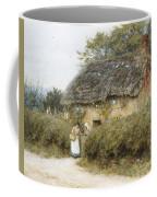 A Thatched Cottage Near Peaslake Surrey Coffee Mug