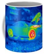 A Thermogram Of A Man Working On A Car Coffee Mug