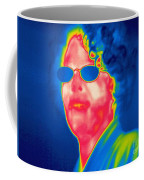 A Thermogram Of A Woman With Glasses Coffee Mug