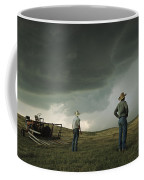 A Thunderstorm Halts Haying As Two Coffee Mug