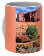 A Touch Of Green At Monument Valley Coffee Mug