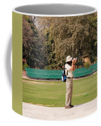 A Tourist Using A High Powered Camera Inside The Red Court In New Delhi Coffee Mug