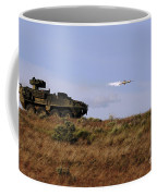 A Tow Missile Is Launched From An Coffee Mug