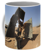 A Tracked Artillery Vehicle Destroyed Coffee Mug
