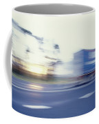 A Tractor Trailer Speeding Coffee Mug
