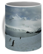 A Trio Of Chin Strap Penguins Amble Coffee Mug