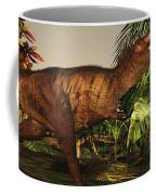 A Tyrannosaurus Rex Runs Coffee Mug by Corey Ford