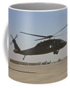 A Uh-60 Black Hawk Landing Coffee Mug