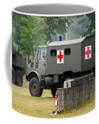 A Unimog In An Ambulance Version In Use Coffee Mug