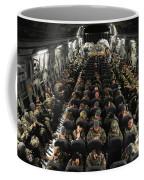 A Unit Of U.s. Army Soldiers In A C-17 Coffee Mug