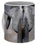 A U.s. Air Force F-22 Raptor Coffee Mug by Stocktrek Images