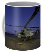 A U.s. Army Ah-64d Apache Helicopter Coffee Mug