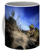 A U.s. Army Soldier Provides Supporting Coffee Mug