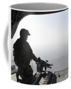 A U.s. Army Soldier Scans The Area Coffee Mug
