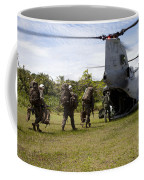 A U.s. Marine Corps Ch-46e Sea Knight Coffee Mug