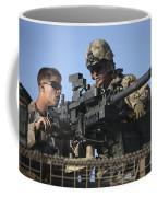A U.s. Marine Fires A Gmg Automatic Coffee Mug