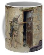 A U.s. Marine Searching Coffee Mug