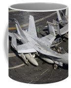A Us Navy Fa-18c Hornet Parked Coffee Mug