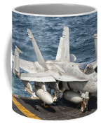 A Us Navy Fa-18c Hornet Tied Coffee Mug by Giovanni Colla