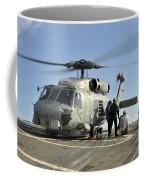 A U.s. Navy Sh-60b Seahawk Helicopter Coffee Mug