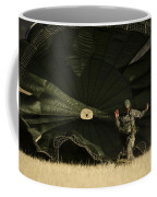 A U.s. Soldier Collapses His Parachute Coffee Mug