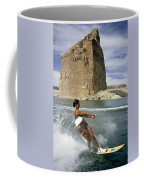 A Vacationist Water Skis Coffee Mug