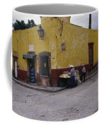 A Vendor Selling Food On A Street Coffee Mug by Gina Martin