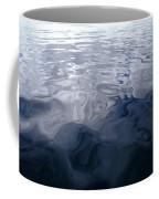 A Very Calm Ocean Reflects Grey-blue Coffee Mug