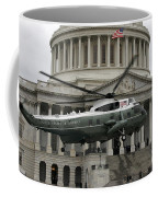 A Vh-60 Helicopter Lands In Front Coffee Mug