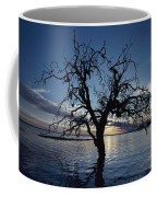 A View At Dawn Of A Silhouetted Tree Coffee Mug