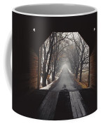A View Down A Tree-lined Road Coffee Mug
