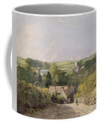 A View Of Osmington Village With The Church And Vicarage Coffee Mug