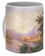 A View Of Scherzingen On The Lake Of Thun Coffee Mug