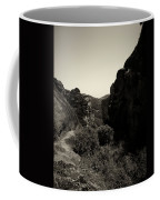A View To The Monastery Of Roussanou Coffee Mug