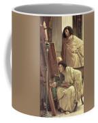 A Visit To The Studio Coffee Mug by Sir Lawrence Alma-Tadema